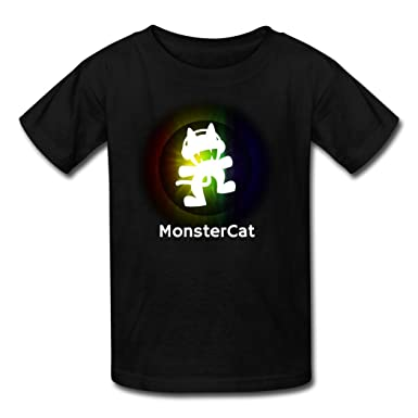 Monster Cat Blast Wallpaper Kid's Tshirt XXXX-L: Amazon co