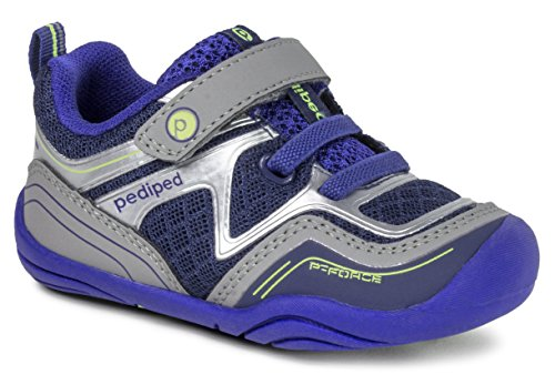Force Grips (pediped Kids' Grip Force Sneaker,Navy,23 E EU Toddler (7 US))