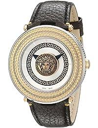 Men's VQL010015 V-Metal Icon Analog Display Swiss Quartz Brown Watch