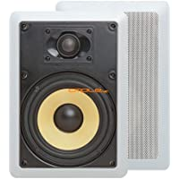 Cmple - 6.5 Surround Sound 2-Way In-Wall/In-Ceiling Kevlar Speakers (Pair) - Rectangular