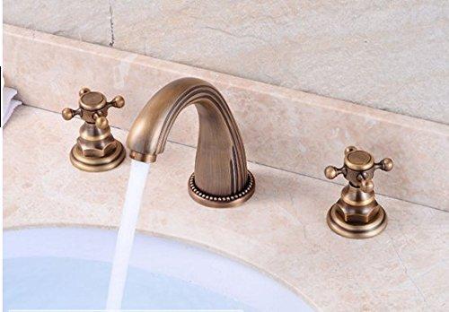 LSRHT Basin Taps Mixer Bathroom Sink Faucet Western Style Copper Basin Tb-01
