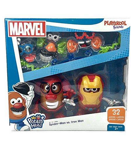 Spider Man Mr Potato Head (Mr. Potato Head Marvel Spider-Man vs. Iron Man Set by Playskool 32 Pieces)