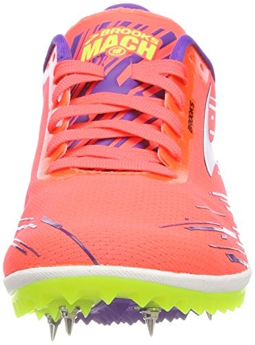 Scarpe Brooks da Verde Fierycoral Blac Electricpurple Running Donna 1b626 18 Mach 7gEpwqgB