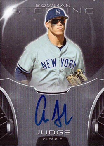 46292ad9920 Amazon.com  2013 Bowman Sterling Prospects  BSAP-AJ Aaron Judge Certified  Autograph Pre-Rookie Baseball Card  Collectibles   Fine Art