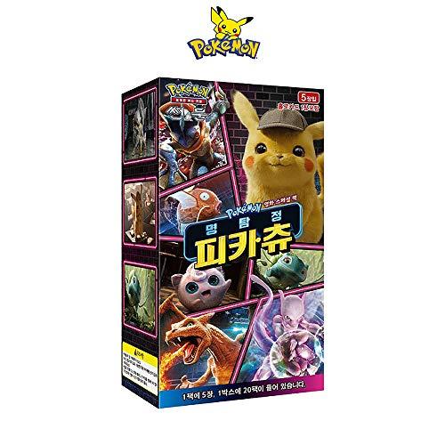 Detective Pikachu Trading Cards Booster Card Pack / 20 Packs/Korean Ver