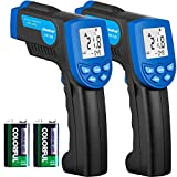 HOLDPEAK 320 Non-Contact Digital Laser Infrared Thermometer Temperature Gun -22 to 608°F (-30 to 320°C) with Laser and LCD Backlit (2Pack)