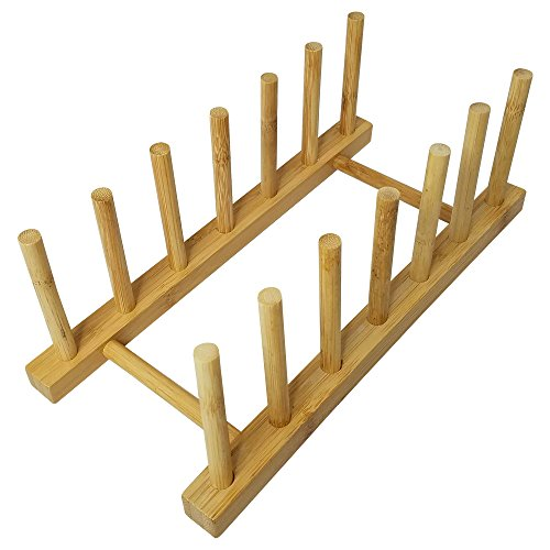 Bamboo Wooden Dish Rack Dishes Drainboard Drying Drainer Sto