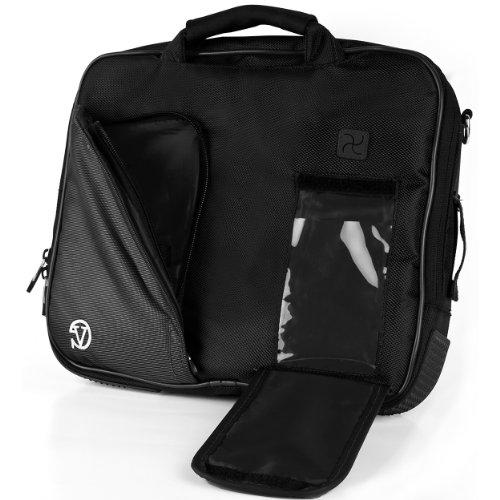VanGoddy Pindar Sling – JET DARK BLACK Pro Deluxe Shoulder Messenger Carrying Bag for Lenovo Yoga 2 11' inch Windows ()
