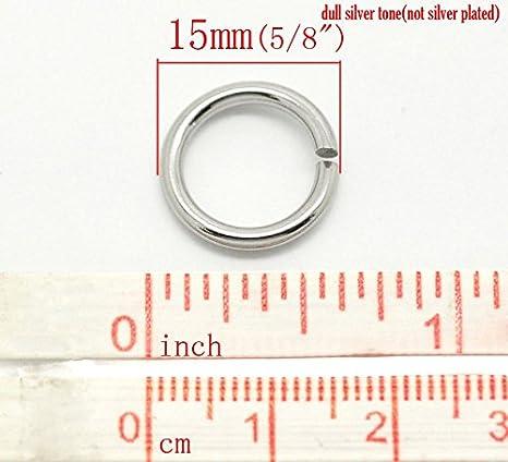 100 Anneaux de Jonction Acier inoxydable Accessoire 7mm x 0.7mm
