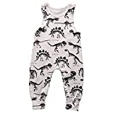 #8: Summer Baby Boy Girl Animal Printed Sleeveless Romper One-Piece Bodysuit Jumpsuit Outfits