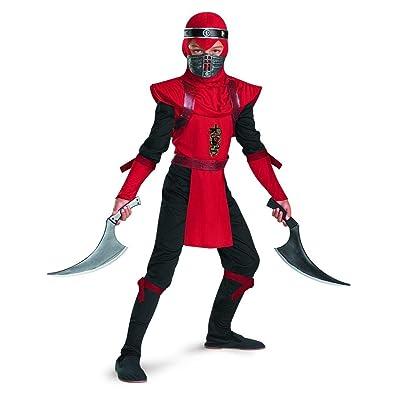 Shadow Ninjas Night Fury Red Viper Ninja Deluxe Boys Costume, 10-12: Toys & Games