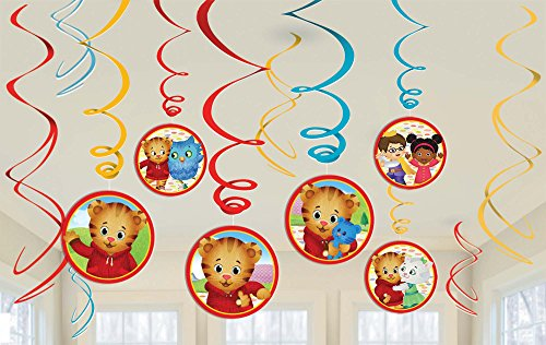 amscan Stumps Shindigz Daniel Tiger Neighborhood Danglers