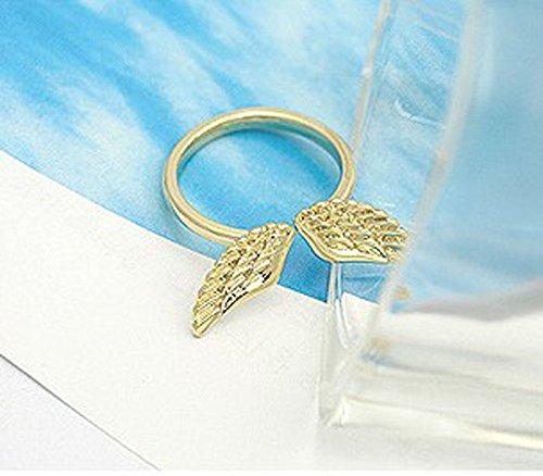 Bessky(TM) 2015 Valentine's Gift Retro Vintage Angel Wing Open Lovely Finger Rings