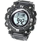 [LAD WEATHER] Powerful solar digital watch Sports Military Lap / Split men's watch