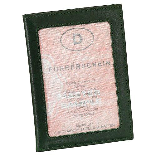 Leder Ausweisetui Ausweishülle Kreditkartenetui Ausweismappe Kartenetui KFZ Mappe Etui Farbe grün