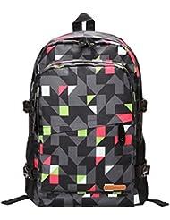 DoSmart Fashion Block Color Waterproof For Outdoor Travel School backpack daypack