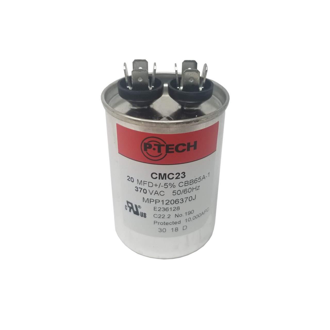 P-Tech USA CMC23 20MFD 370VAC AC Motor Run Capacitor