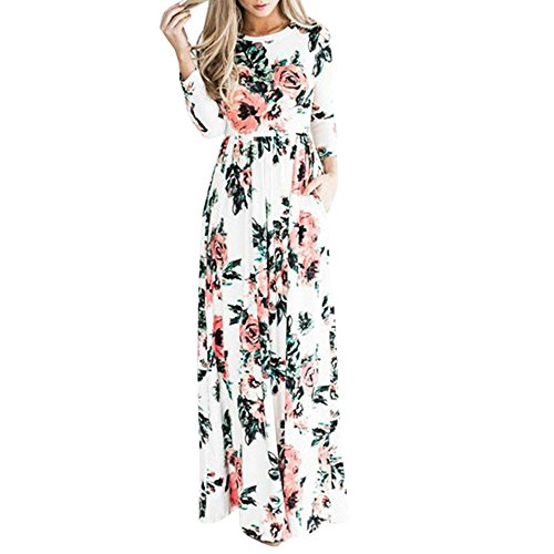 union-fashion-ltd-womens-spring-fashion-printed-long-dress-three-quarter-sleeve-empire-flower-floor-