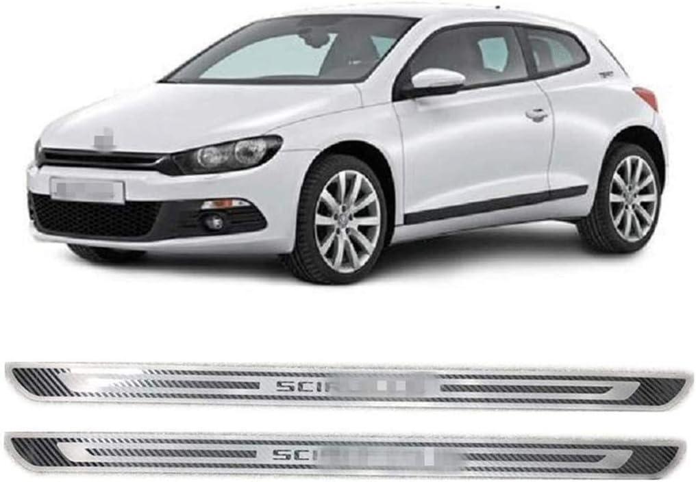 YCGLX 4 Piezas para Volkswagen VW Scirocco R MK3 2009-2018 Acero Inoxidable Coche Barra Puerta Umbral Bienvenida Estilo Pedal Protecci/ón Pegatina Decorativos Accesorios