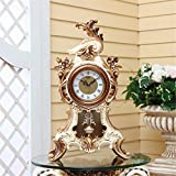 Mute European Style Retro Station Clock Creative Living Room Clock