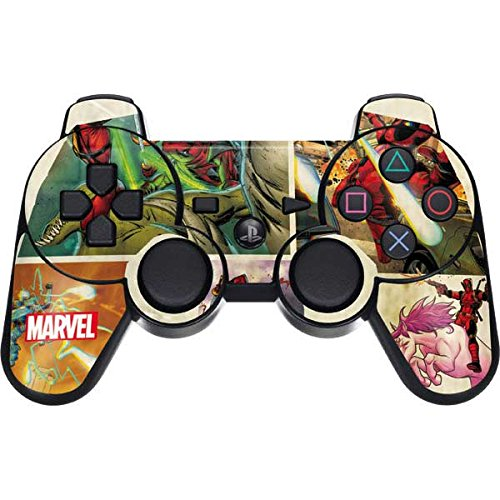 Skinit Deadpool PS3 Dual Shock wireless controller Skin - Deadpool Unicorn | Marvel - Game Ps3 Deadpool