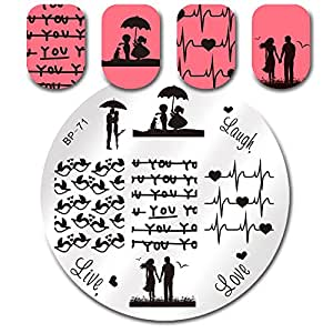 Born Pretty Nail Art Stamping Plates Love Theme Template Image Plate BP71
