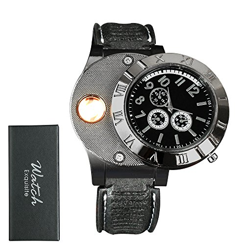 man-watches-with-lighter-ezykoo-usb-rechargeable-windproof-flameless-cigarette-lighter-good-gift-for