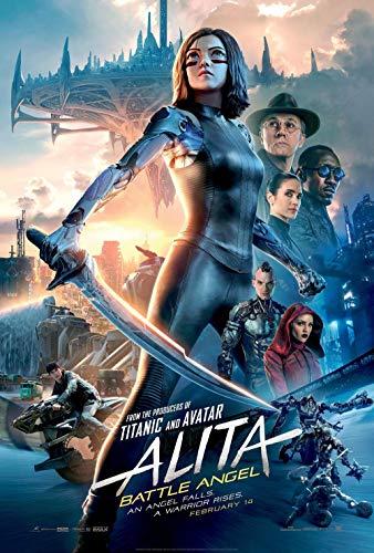 newhorizon Alita Battle Angel Movie Poster 17'' x 25'' NOT A - Movie Angel Poster