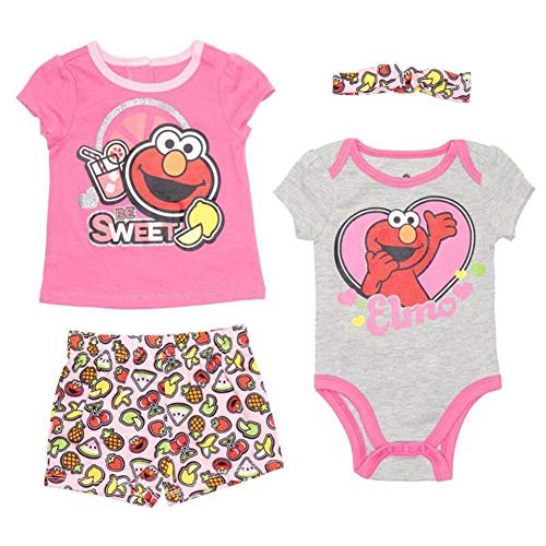 Elmo Girl Clothes - Sesame Street Baby Girls Infant Elmo