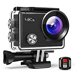 APEMAN Action Camera A77, 4K 20MP WiFi Sports for Vlog Underwater Cam Waterproof 30M with Remote Control