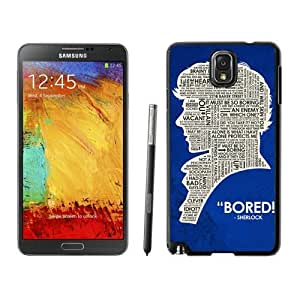 Durable Case Sherlock Holmes Samsung Galaxy Note 3 Case in Black