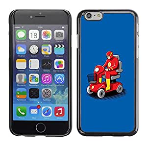 Caucho caso de Shell duro de la cubierta de accesorios de protección BY RAYDREAMMM - Apple iPhone 6 Plus 5.5 - Transport Flying Car Red