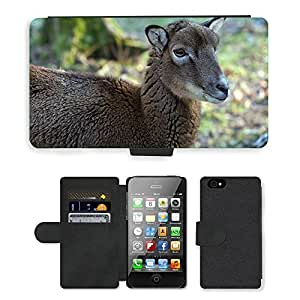 hello-mobile PU LEATHER case coque housse smartphone Flip bag Cover protection // M00136637 Capricornio Animales Salvajes Mujer // Apple iPhone 4 4S 4G
