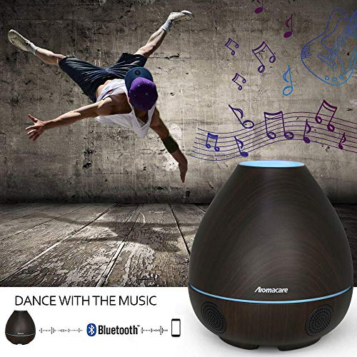 Bluetooth Diffuser 300ml Light/Mini 4 in with Loud Wireless, Home, Kids Room, Bedroom, Shower By