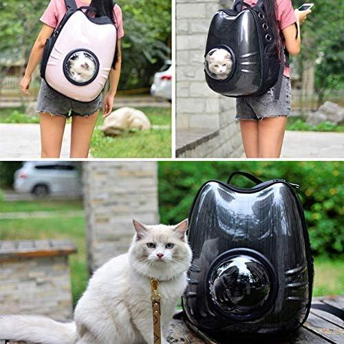猫キャリーポータブル 中小猫や犬に適したキャリングバッグポータブルバックパック犬猫ペットの発信 (Color ...