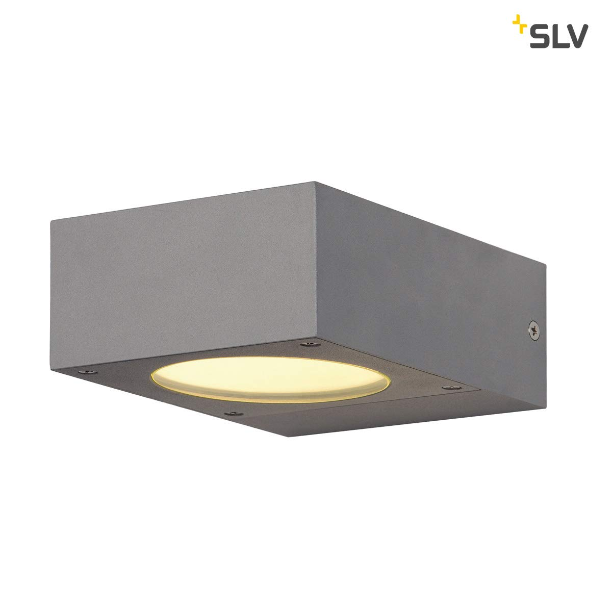 SLV LED Wandlampe QUADRASYL fü r die Auß enbeleuchtung von Wä nden, Wegen, Eingä ngen, LED Strahler, Wandleuchte, Up- Down-Light, Aussenleuchte, Gartenlampe, Wegeleuchte, GX53, 11 W max., EEK B-A++ 232285