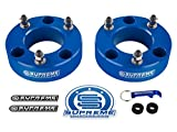 Supreme Suspensions - F150 Lift Kit Front 3.5'' Leveling Lift Kit for [2004 - 2008 Ford F-150] and [2003 - 2018 Ford Expedition] BLUE Aircraft Billet Strut Spacers
