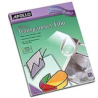 Película de transparencia Apollo, escritura, transparente, 100 hojas /paquete (VWO100C-BE)