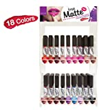 NICKA K True Matte Lip Color Display Case Set 108 Pieces
