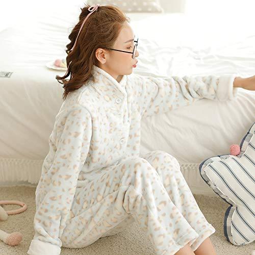 A 47 Terciopelo 47 Para Pijamas L158 Terciopelo 164cm Franela Y De Invierno Servicio Mujer 164cm Coral Otoño 57kg Gruesa 57kg E Hengyu Traje Domicilio L158 Cardigan wqZSpEE