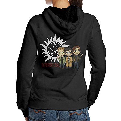 SAMMOI Supernatural Logo Women's Hooded Sweatshirt L Black