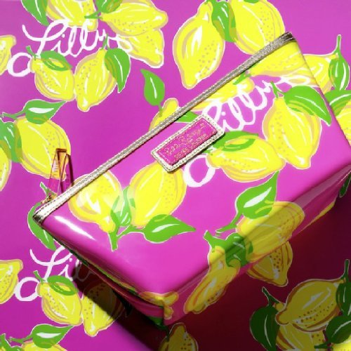 Estee Lauder Lilly Pulitzer Designer Cosmetic Bag 2014 PVC Limited Edition (Estee Lauder Makeup Travel Bag)