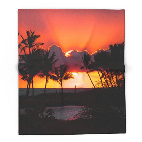 Society6 Sunset, Hawaii 88'' x 104'' Blanket by Society6
