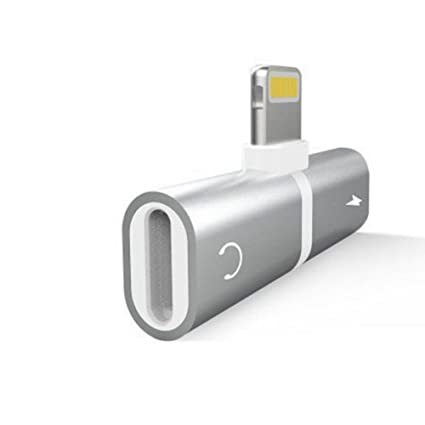 DDG EDMMS Adaptador para auriculares Cargador para iPhone 7 2 en 1 Adaptador de audio Adaptador para auriculares Conector para auriculares Control de ...