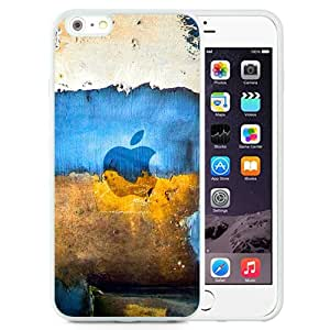 New Pupular And Unique Designed Case For iPhone 6 Plus 5.5 Inch With Apple Graffiti White Phone Case