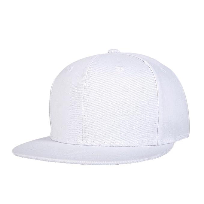 LINNUO Cappellini da Baseball Regolabile Berretto Snapback Hip-hop Classico Cap  Cappello Piatto Uomo Donna 07ea44e223ce