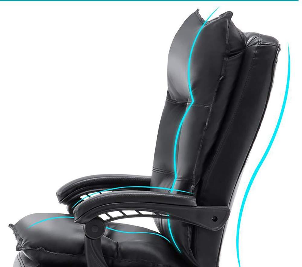 TTYY Stolar soffor PU-läder dator stol hem kontor stol kontor chef stol vardagsrum sovrum liggande stol vacker datorstol bekväm stol (färg: svart) Brun