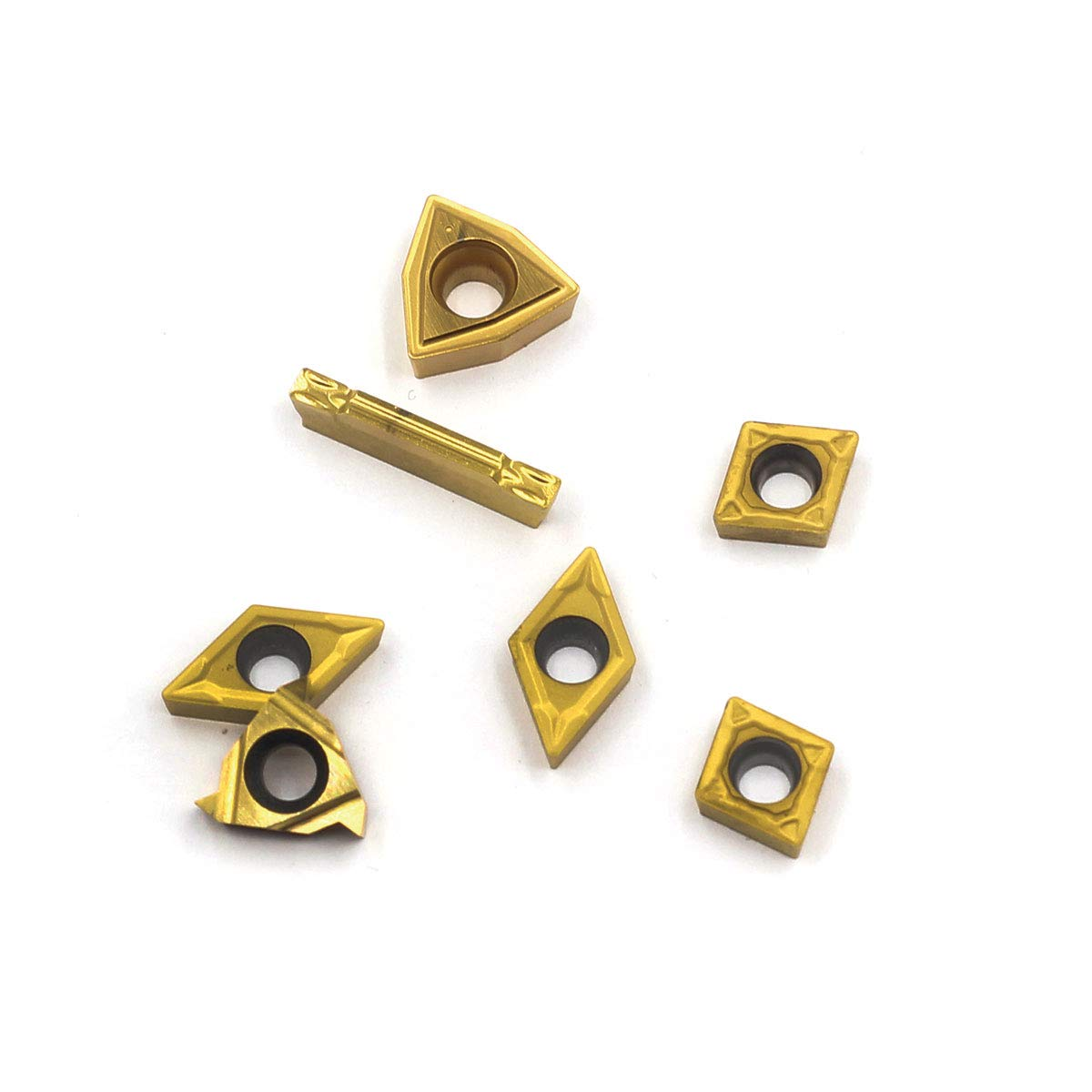 Carbide Turning Inserts MGMN200,11ER A60,WCMT2.5,CCMT060204,DCMT070204 OSCARBIDE CNC Lathe Insert for Indexable Lathe Turning Tool Holder Insert Replacement 7 Pieces