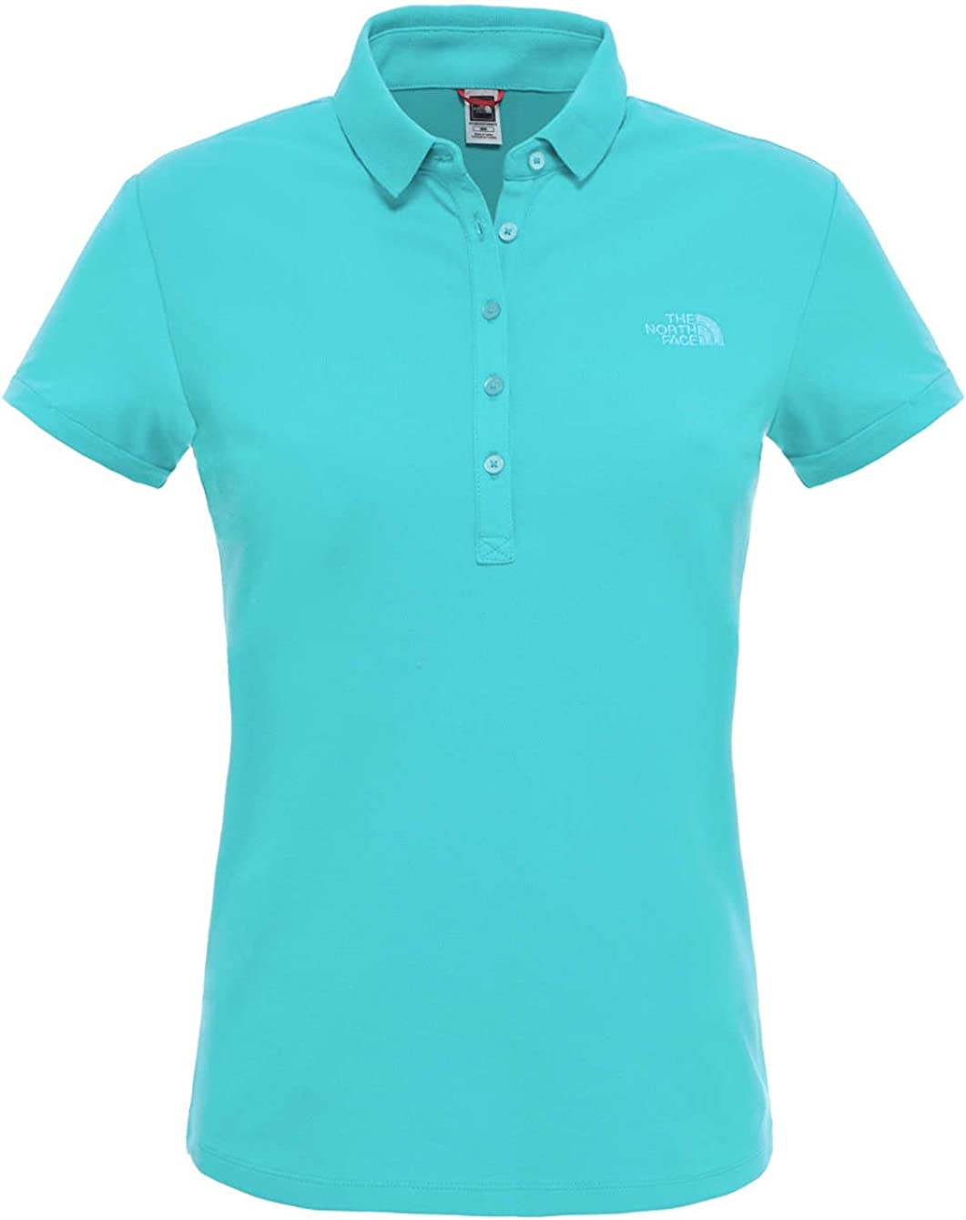 The North Face Short Sleeve Polo Camiseta, Mujer, Azul (Bluebird ...