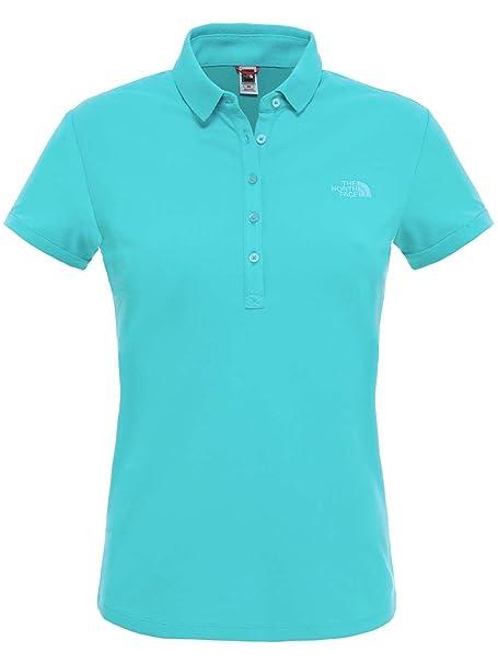 The North Face Short Sleeve Polo Camiseta, Mujer, Azul (Bluebird ...
